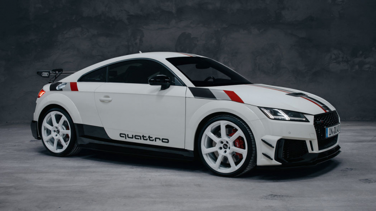 Audi TT RS 40 Years of Quattro gets ferocious body work and retro stripes